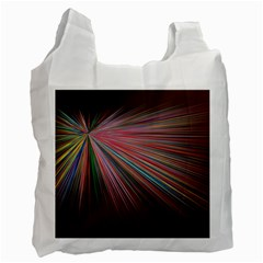 Pattern Flower Background Wallpaper Recycle Bag (one Side) by Nexatart