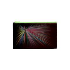 Pattern Flower Background Wallpaper Cosmetic Bag (xs) by Nexatart