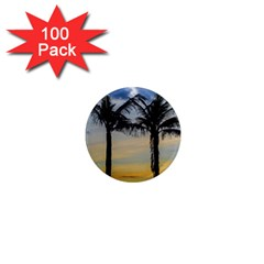 Palm Trees Against Sunset Sky 1  Mini Magnets (100 Pack)  by dflcprints