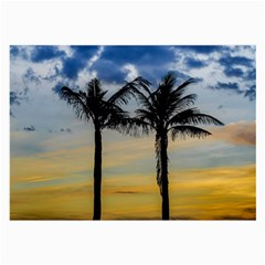 Palm Trees Against Sunset Sky Large Glasses Cloth by dflcprints