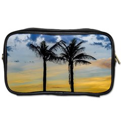 Palm Trees Against Sunset Sky Toiletries Bags by dflcprints