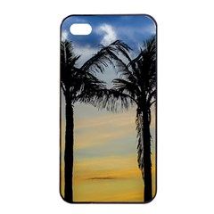 Palm Trees Against Sunset Sky Apple Iphone 4/4s Seamless Case (black) by dflcprints