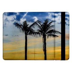 Palm Trees Against Sunset Sky Samsung Galaxy Tab Pro 12 2  Flip Case by dflcprints