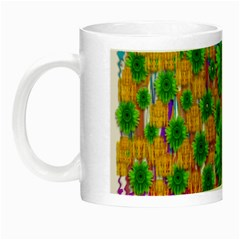 Jungle Love In Fantasy Landscape Of Freedom Peace Night Luminous Mugs by pepitasart