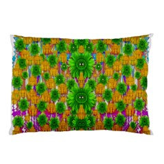 Jungle Love In Fantasy Landscape Of Freedom Peace Pillow Case (two Sides) by pepitasart