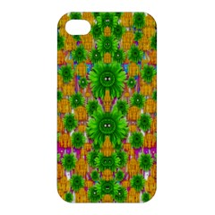 Jungle Love In Fantasy Landscape Of Freedom Peace Apple Iphone 4/4s Premium Hardshell Case by pepitasart