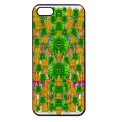 Jungle Love In Fantasy Landscape Of Freedom Peace Apple Iphone 5 Seamless Case (black) by pepitasart