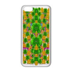 Jungle Love In Fantasy Landscape Of Freedom Peace Apple Iphone 5c Seamless Case (white) by pepitasart