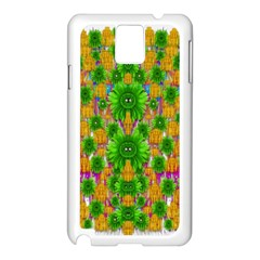 Jungle Love In Fantasy Landscape Of Freedom Peace Samsung Galaxy Note 3 N9005 Case (white) by pepitasart