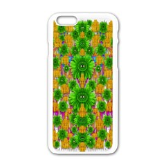 Jungle Love In Fantasy Landscape Of Freedom Peace Apple Iphone 6/6s White Enamel Case by pepitasart