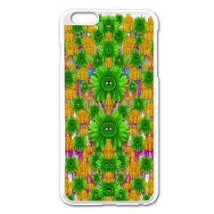 Jungle Love In Fantasy Landscape Of Freedom Peace Apple Iphone 6 Plus/6s Plus Enamel White Case by pepitasart