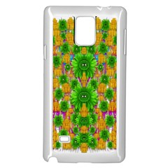 Jungle Love In Fantasy Landscape Of Freedom Peace Samsung Galaxy Note 4 Case (white) by pepitasart