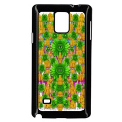 Jungle Love In Fantasy Landscape Of Freedom Peace Samsung Galaxy Note 4 Case (black) by pepitasart