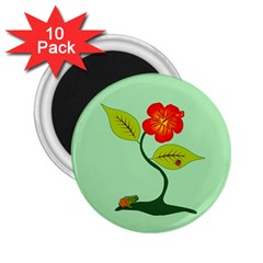 Plant And Flower 2 25  Magnets (10 Pack)  by linceazul