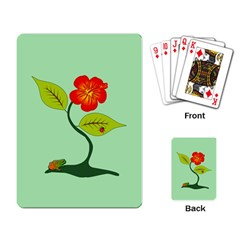 Plant And Flower Playing Card by linceazul