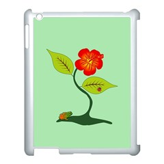 Plant And Flower Apple Ipad 3/4 Case (white) by linceazul