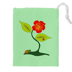 Plant And Flower Drawstring Pouches (xxl) by linceazul