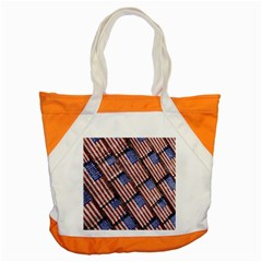 Usa Flag Grunge Pattern Accent Tote Bag by dflcprints