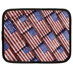 Usa Flag Grunge Pattern Netbook Case (large) by dflcprints