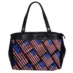 Usa Flag Grunge Pattern Office Handbags by dflcprints