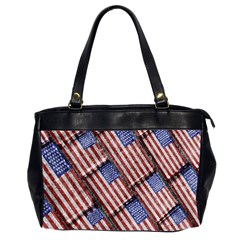 Usa Flag Grunge Pattern Office Handbags (2 Sides)  by dflcprints