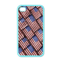 Usa Flag Grunge Pattern Apple Iphone 4 Case (color) by dflcprints