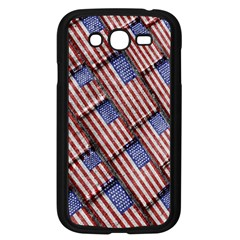 Usa Flag Grunge Pattern Samsung Galaxy Grand Duos I9082 Case (black) by dflcprints