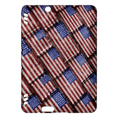 Usa Flag Grunge Pattern Kindle Fire Hdx Hardshell Case by dflcprints