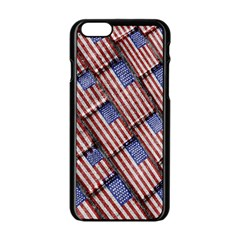Usa Flag Grunge Pattern Apple Iphone 6/6s Black Enamel Case by dflcprints