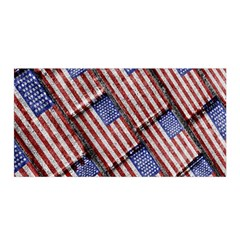 Usa Flag Grunge Pattern Satin Wrap by dflcprintsclothing