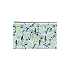 Hand Drawm Seamless Floral Pattern Cosmetic Bag (small)  by TastefulDesigns