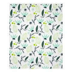 Hand Drawm Seamless Floral Pattern Shower Curtain 60  X 72  (medium)  by TastefulDesigns