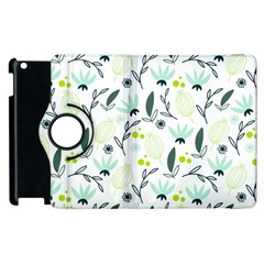 Hand Drawm Seamless Floral Pattern Apple Ipad 2 Flip 360 Case by TastefulDesigns
