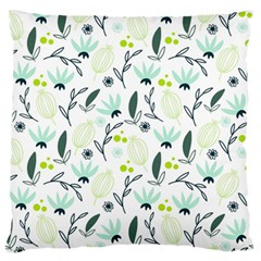 Hand Drawm Seamless Floral Pattern Standard Flano Cushion Case (one Side) by TastefulDesigns