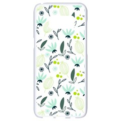 Hand Drawm Seamless Floral Pattern Samsung Galaxy S8 White Seamless Case by TastefulDesigns