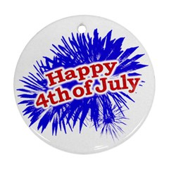 Happy 4th Of July Graphic Logo Ornament (round) by dflcprints
