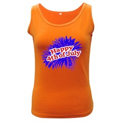 Happy 4th Of July Graphic Logo Women s Dark Tank Top by dflcprints