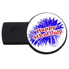 Happy 4th Of July Graphic Logo Usb Flash Drive Round (4 Gb) by dflcprints