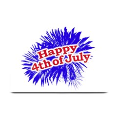 Happy 4th Of July Graphic Logo Plate Mats by dflcprints