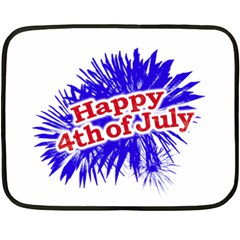 Happy 4th Of July Graphic Logo Double Sided Fleece Blanket (mini)  by dflcprints
