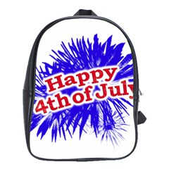 Happy 4th Of July Graphic Logo School Bags(large)  by dflcprints