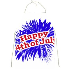 Happy 4th Of July Graphic Logo Full Print Aprons by dflcprints
