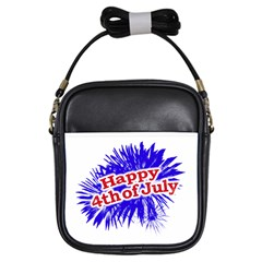 Happy 4th Of July Graphic Logo Girls Sling Bags by dflcprints