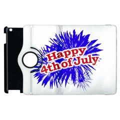 Happy 4th Of July Graphic Logo Apple Ipad 3/4 Flip 360 Case by dflcprints