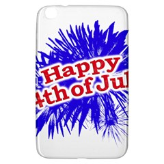 Happy 4th Of July Graphic Logo Samsung Galaxy Tab 3 (8 ) T3100 Hardshell Case  by dflcprints
