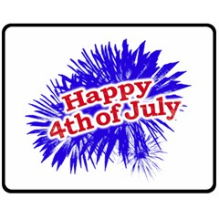 Happy 4th Of July Graphic Logo Double Sided Fleece Blanket (medium)  by dflcprints