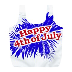Happy 4th Of July Graphic Logo Full Print Recycle Bags (l)  by dflcprints