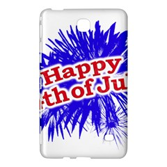 Happy 4th Of July Graphic Logo Samsung Galaxy Tab 4 (8 ) Hardshell Case  by dflcprints