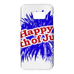 Happy 4th Of July Graphic Logo Samsung Galaxy S7 Hardshell Case  by dflcprints