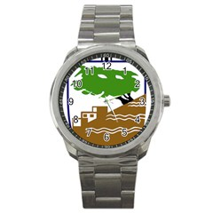 Coat Of Arms Of Holon  Sport Metal Watch by abbeyz71